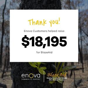 Thank You to our customers who helped raise $18,195 text