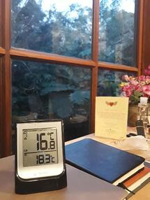 Seb indoor outdoor thermometer 16degrees